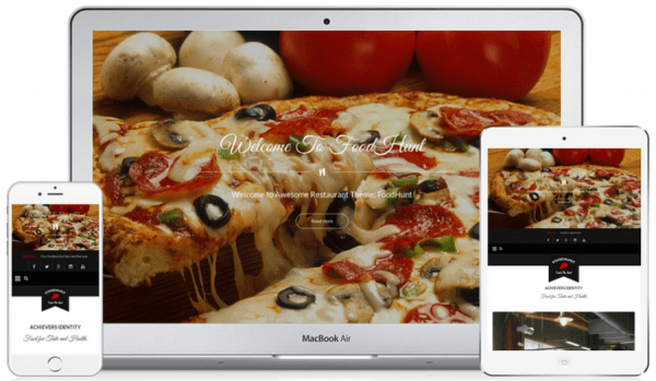 FoodHunt Plantilla WordPress para Restaurantes